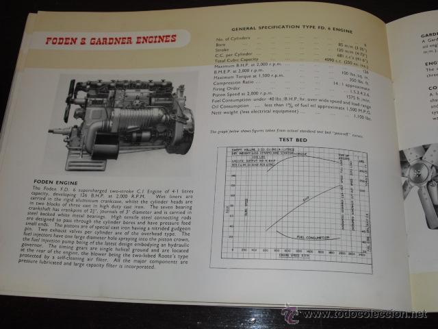 Coches y Motocicletas: FODEN - PASSENGER VEHICLES - CATÁLOGO ORIGINAL - 1962- - Foto 10 - 47366846