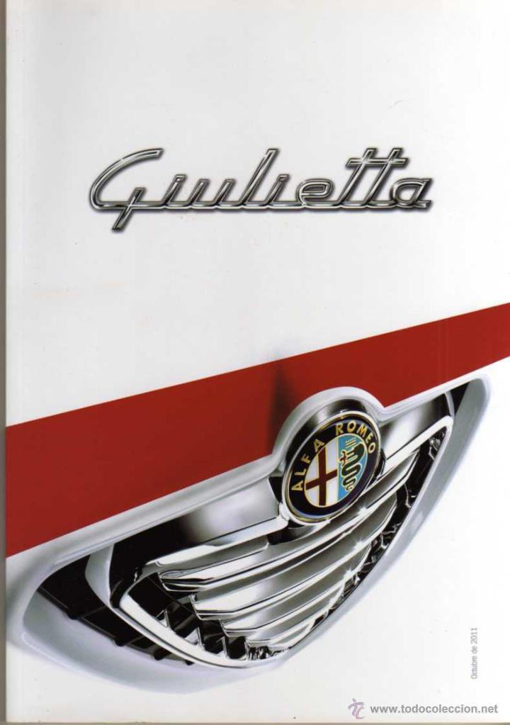 CATALOGO ALFA ROMEO GIULIETTA (Coches y Motocicletas Antiguas y Clásicas - Catálogos, Publicidad y Libros de mecánica)