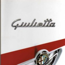 Coches y Motocicletas: CATALOGO ALFA ROMEO GIULIETTA. Lote 47498919