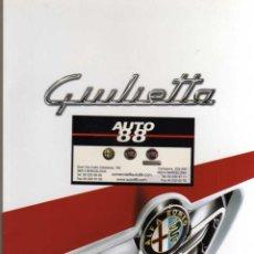 Coches y Motocicletas: CATALOGO ALFA ROMEO GIULIETTA. Lote 47498926