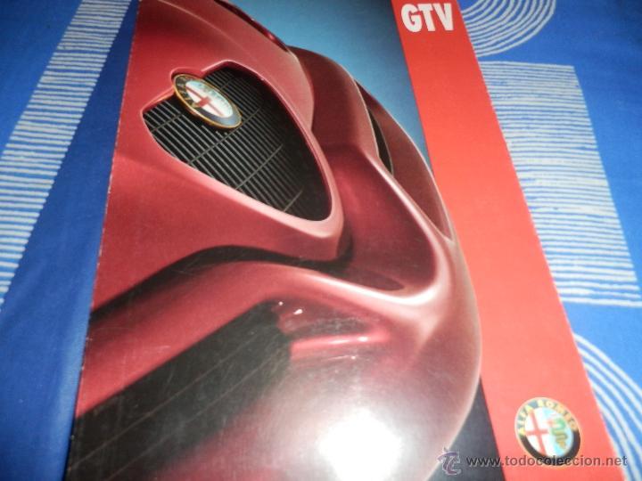 CATALOGO ALFA ROMEO GTV -97 ITALIANO (Coches y Motocicletas Antiguas y Clásicas - Catálogos, Publicidad y Libros de mecánica)
