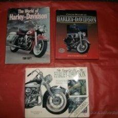 Coches y Motocicletas: LOTE TRES LIBROS HARLEY DAVIDSON (EN INGLÉS). Lote 47684423