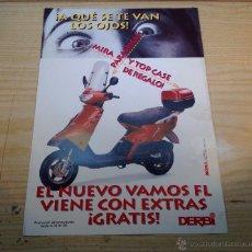 Coches y Motocicletas: CICLOMOTOR DERBI VAMOS FL FOLLETO PUBLICITARIO ORIGINAL. Lote 47693644