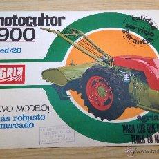 Coches y Motocicletas: MOTOCULTOR 1900 ED/20 AGRIA FOLLETO PUBLICITARIO ORIGINAL . Lote 47697047
