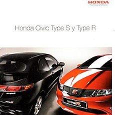 Coches y Motocicletas: HONDA CIVIC TYPE S TYPE R CATALOGO MARCA. Lote 47757618