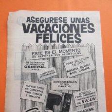 Coches y Motocicletas: PUBLICIDAD 1964 - COLECCION COCHES - NEUMATICOS GENERAL. Lote 47775816