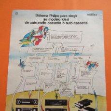 Coches y Motocicletas: PUBLICIDAD 1974 - COLECCION COCHES - PHILIPS AUTORADIO COCHES. Lote 47775834