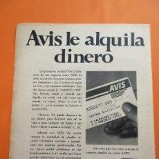 Coches y Motocicletas: PUBLICIDAD 1975 - COLECCION COCHES - ALQUILER COCHES SIMCA 1200. Lote 47775947