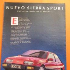 Coches y Motocicletas: PUBLICIDAD 1985 - COLECCION COCHES - FORD SIERRA SPORT 2.0 I S. Lote 47776187