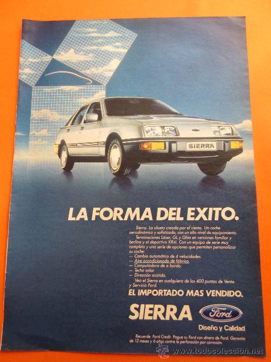 PUBLICIDAD 1984 - COLECCION COCHES - FORD SIERRA (Coches y Motocicletas Antiguas y Clásicas - Catálogos, Publicidad y Libros de mecánica)
