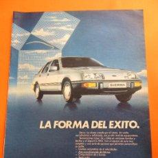 Coches y Motocicletas: PUBLICIDAD 1984 - COLECCION COCHES - FORD SIERRA. Lote 47776399