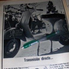 Coches y Motocicletas: VESPA, TRANSMISION DIRECTA. VESPA 50 Y VESPA 1965. 4 ANUNCIOS.. Lote 48244666