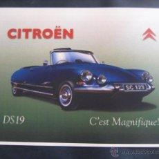 Coches y Motocicletas: CARTEL PUBLICITARIO DE CITROËN DS 19. Lote 48271123