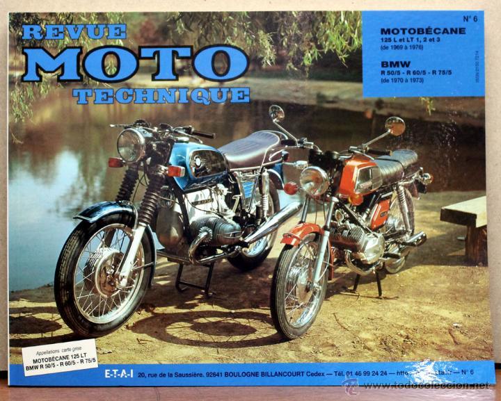 LIBRO REVUE MOTO TECHNIQUE N6 BMW 5 / MOTOBECANE (Coches y Motocicletas Antiguas y Clásicas - Catálogos, Publicidad y Libros de mecánica)