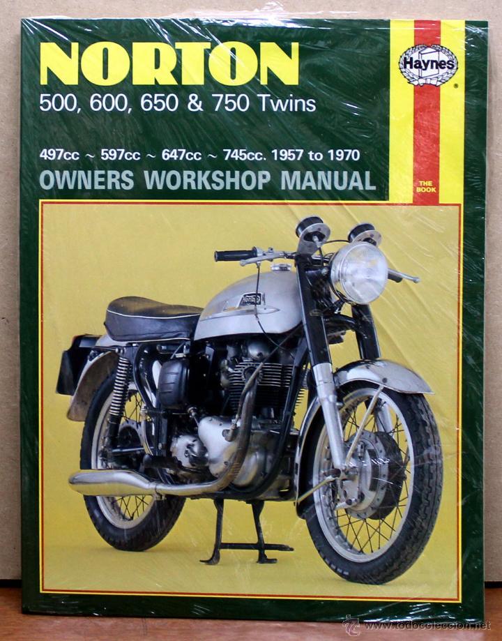 LIBRO MANUAL REPARACIÓN NORTON 500 600 650 750 TWINS 1957 - 1970 (Coches y Motocicletas Antiguas y Clásicas - Catálogos, Publicidad y Libros de mecánica)