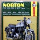 Coches y Motocicletas: LIBRO MANUAL REPARACIÓN NORTON 500 600 650 750 TWINS 1957 - 1970. Lote 48333330