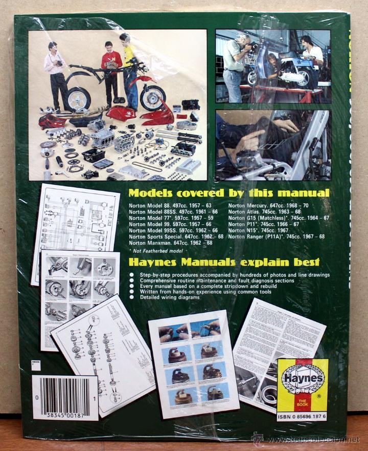 Coches y Motocicletas: LIBRO MANUAL REPARACIÓN NORTON 500 600 650 750 TWINS 1957 - 1970 - Foto 2 - 48333330