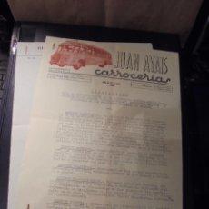 Coches y Motocicletas: JUAN AYATS - CARROCERIAS ARBUCIAS GERONA , FACTURA REPARACION OMNIBUS HISPANO-SUIZA ACCIDENTADO 1952. Lote 48334855