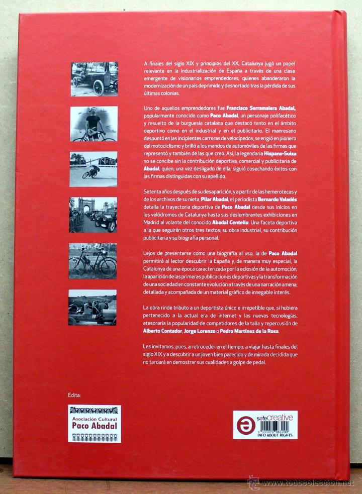 Coches y Motocicletas: LIBRO PACO ABADAL BIOGRAFIA DE UN SPORSTMAN - Foto 2 - 162031646