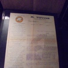Coches y Motocicletas: AUTOMOVILES - M. TOVIAS SUMINISTROS AUTOMOVILES C. ENRIQUE GRANADOS 26 BARCELONA 1925 FACTURA COMERC. Lote 48340498