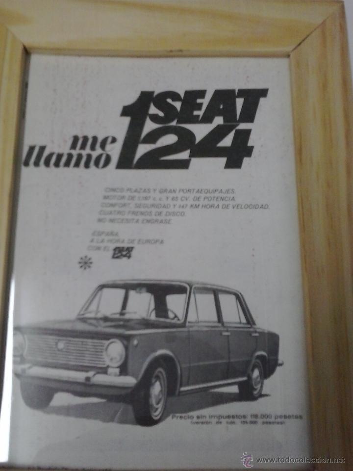 SEAT 124 1968 ANUNCIO (Coches y Motocicletas Antiguas y Clásicas - Catálogos, Publicidad y Libros de mecánica)