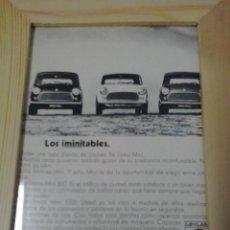 Coches y Motocicletas: ANUNCIO AUTHI MINI. Lote 48365933