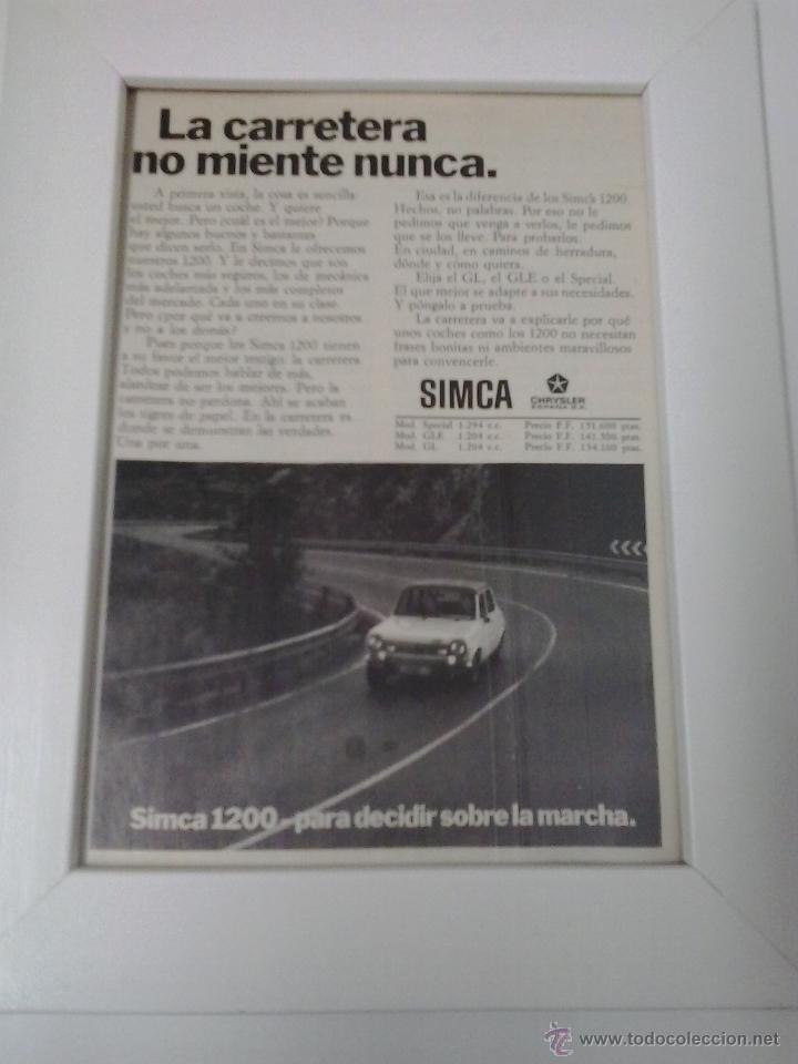 SIMCA 1200 (Coches y Motocicletas Antiguas y Clásicas - Catálogos, Publicidad y Libros de mecánica)