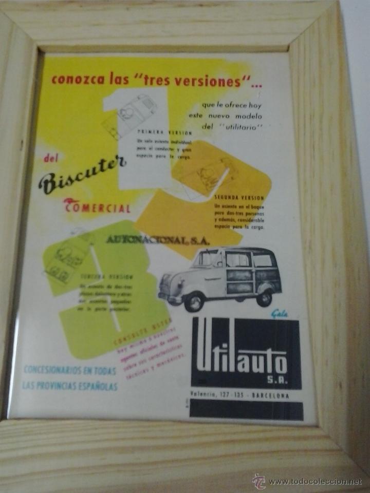BISCUTER COMERCIAL ANUNCIO (Coches y Motocicletas Antiguas y Clásicas - Catálogos, Publicidad y Libros de mecánica)
