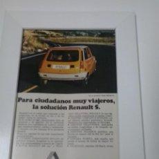 Coches y Motocicletas: ANUNCIO ENMARCADO RENAULT 5. Lote 48367290