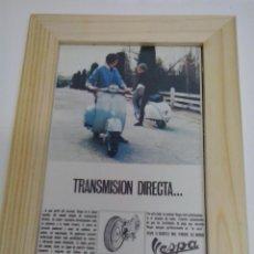 Coches y Motocicletas: ANUNCIO AÑOS 60 ENMARCADO VESPA . Lote 48368388