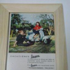 Coches y Motocicletas: ANUNCIO ENMARCADO VESPA. Lote 48368488