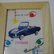 Coches y Motocicletas: ANUNCIO ENMARCADO DE COCHE BISCUTER. Lote 48368769