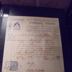 Coches y Motocicletas: AUTOMOVILES - ENRIQUE TRUÑÓ 1926 TALLER DE CONSTRUCCION Y REPARACION DE RADIADORES COCHE Y AVION FAC. Lote 48380234