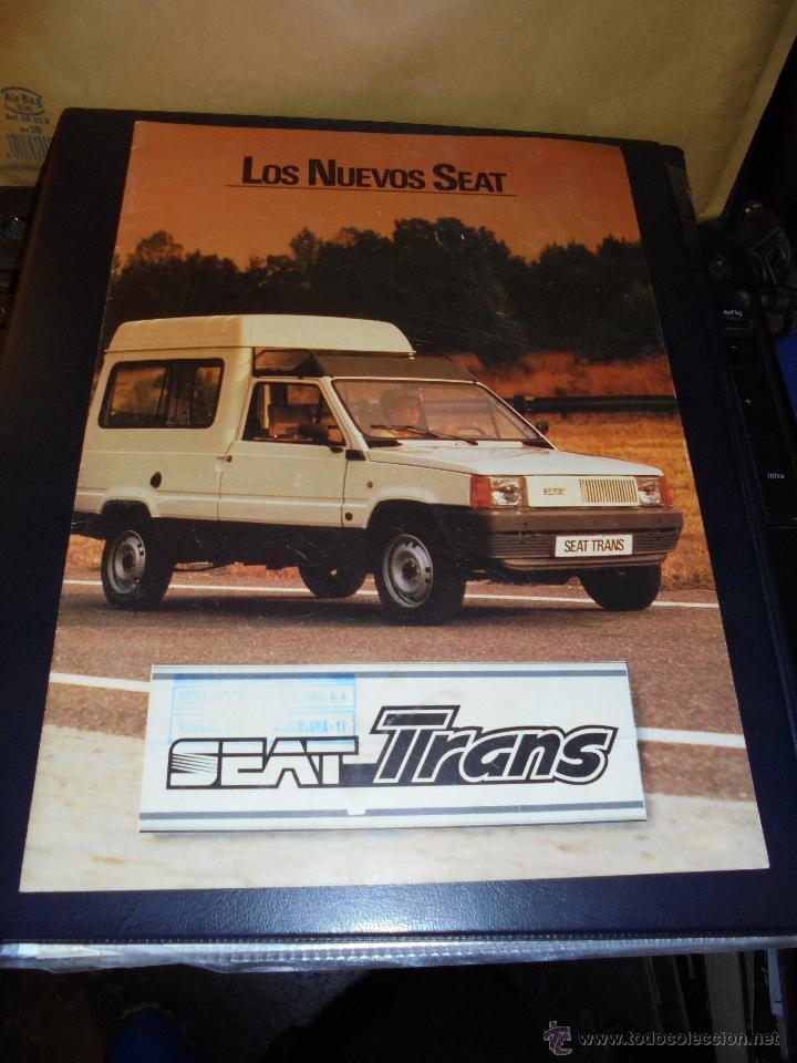 CATALOGO 1982 LOS NUEVOS SEAT - SEAT TRANS - ILUSTRADO 10 PAG. 30X21 CM. BUEN ESTADO (Coches y Motocicletas Antiguas y Clásicas - Catálogos, Publicidad y Libros de mecánica)