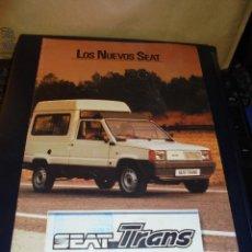 Coches y Motocicletas - CATALOGO 1982 LOS NUEVOS SEAT - SEAT TRANS - ILUSTRADO 10 PAG. 30X21 CM. BUEN ESTADO - 48387040