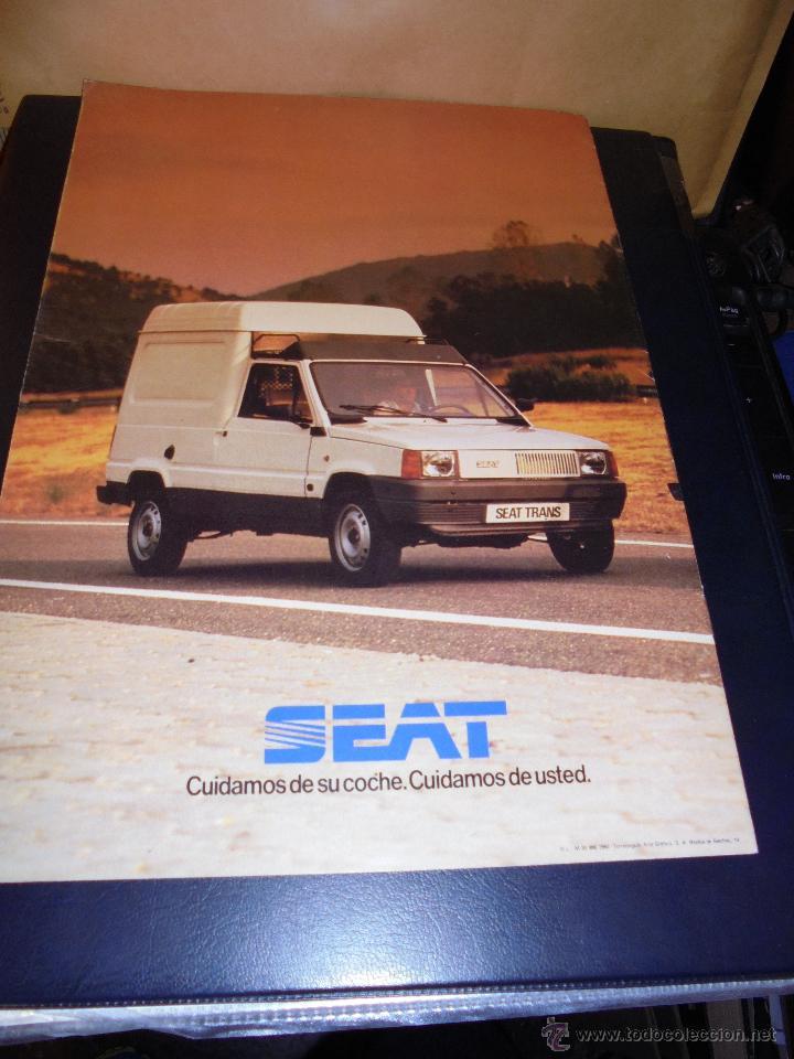 Coches y Motocicletas: CATALOGO 1982 LOS NUEVOS SEAT - SEAT TRANS - ILUSTRADO 10 PAG. 30X21 CM. BUEN ESTADO - Foto 2 - 48387040
