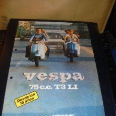 Coches y Motocicletas: CATALOGO - AÑOS 80 VESPA 75 CC. T3LI - PRIMAVERA - 1 HOJA 30X21 CM. PEQUEÑA ROTURA . Lote 48387133