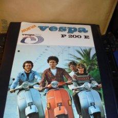 Coches y Motocicletas: CATALOGO 1979 VESPA P 200 E - 1 HOJA 30X21 CM. . Lote 48387183