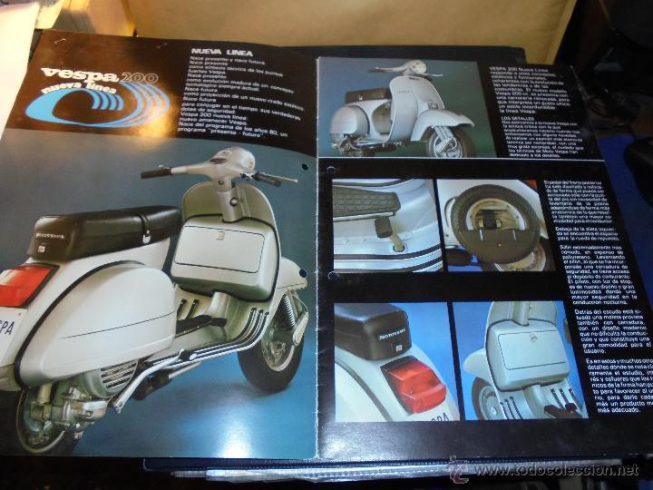 Coches y Motocicletas: CATALOGO 1979 - VESPA 200 ILUSTRADO 8 PAG. 30X21 CM. - Foto 2 - 48387307