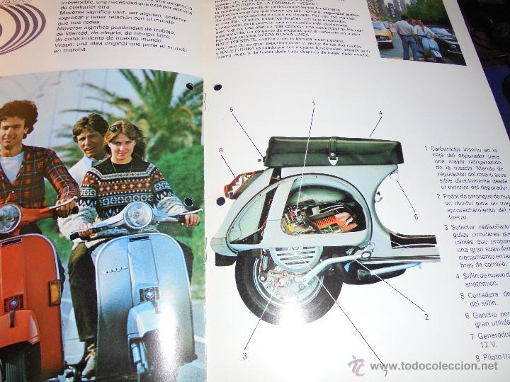 Coches y Motocicletas: CATALOGO 1979 - VESPA 200 ILUSTRADO 8 PAG. 30X21 CM. - Foto 3 - 48387307