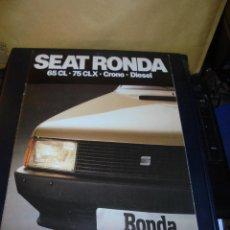 Coches y Motocicletas - CATALOGO 1982 SEAR RONDA 65 CL - 75 CLX - CRONO - DIESEL . ILUSTRADO 30 PAG. 30X21 CM. - 139206377