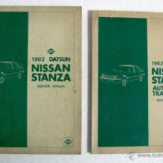 Coches y Motocicletas: ANTIGUO LOTE 2 MANUAL MANUALES SERVICIO MECANICO TALLER CAJA AUTOMATICA DATSUN NISSAN STANZA 1982. Lote 110686314