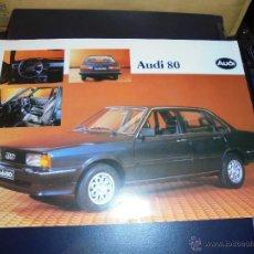 Coches y Motocicletas: CATALOGO 1 HOJA AUDI 80 - 1982 - 30XS21 CM. . Lote 48387948
