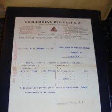 Coches y Motocicletas: AUTOMOVILES - COMERCIAL PIRELLI S.A. 1926 BARCELONA - MADRID - BILBAO - SEVILLA - LA CORUÑA , FACTUR. Lote 48401897