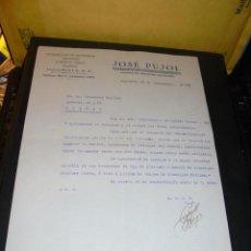 Coches y Motocicletas: AUTOMOVILES - JOSE PUJOL - MATRICULACION DE AUTOMOVILES BARCELONA 1929 C. CUCURULLA 9 - FACTURA COME. Lote 48438658