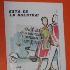 Coches y Motocicletas: PUBLICIDAD 1959 - COLECCION COCHES - MOTO VESPA. Lote 48471197
