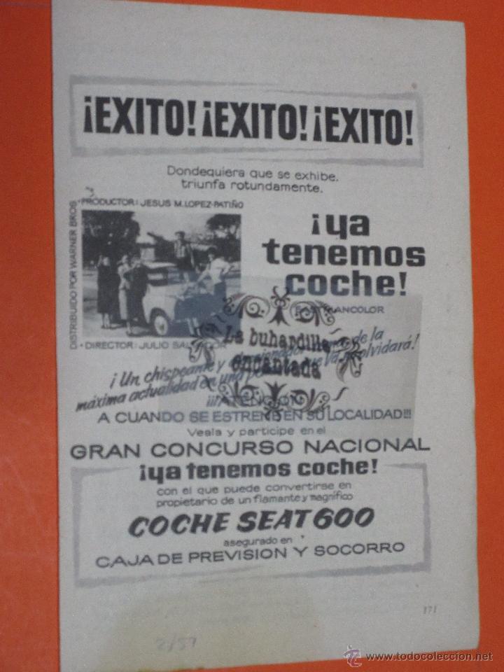 PUBLICIDAD 1959 - COLECCION COCHES - SEAT 600 (Coches y Motocicletas Antiguas y Clásicas - Catálogos, Publicidad y Libros de mecánica)
