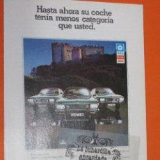 Coches y Motocicletas: PUBLICIDAD 1976 - COLECCION COCHES - CHRYSLER ESPAÑA SIMCA DODGE. Lote 48476047