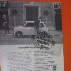 Coches y Motocicletas: PUBLICIDAD 1974 - COLECCION COCHES - LEYLAND AUTHI MINI . Lote 48476473