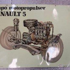 Coches y Motocicletas: RENAULT 5.CARTEL MURAL GRUPO PROPULSOR.1985.. Lote 48476621